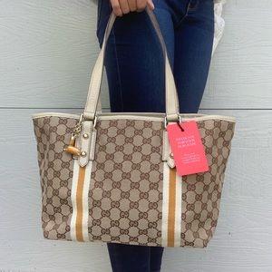 Gucci Jacquard Jolicoeur Tote Bag